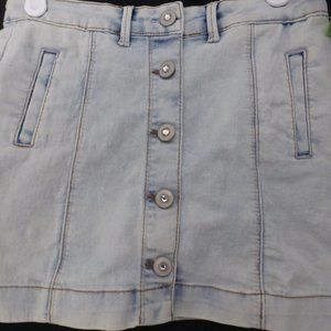 GEORGE size 7 button up front jean skirt BNWT